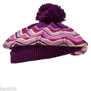 MISSONI FOR TARGET GIRLS BERET AND GLOVES SIZE XS/S, M/L PURPLE PASSIONE