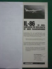 6/83 PUB AVIAEXPORT URSS MOSCOU CCCP IL-86 AEROFLOT SOVIET AIRLINES GERMAN AD