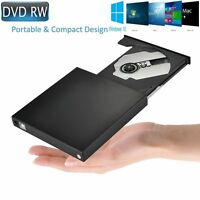 EXTERNAL OPTICAL USB 2 DVD-RW CD-RW DRIVE READER WRITER BURNER COPIER Win7,8,10