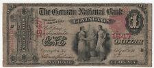 1875 $1 GERMAN NATIONAL BANKNOTE COVINGTON KENTUCKY CIRCULATED NET VG (626)