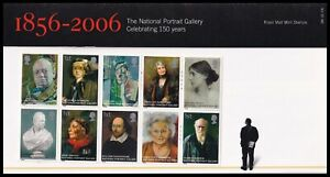 2006 GB National Portrait Gallery Royal Mail Presentation Pack No.386