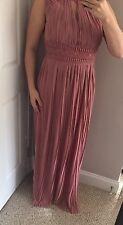 New Asos TFNC LONDON MAXI DRESS 👗 Pleated Size 4 UK 8 Gorgeous