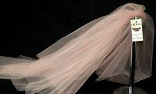 Pink Blush Wedding Veil Any Length Or Colour 2 Tier Plain LBV156 LB Veils UK