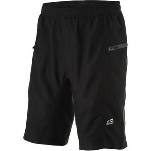Men's Bellwether Ultralight Baggy Padded Black Cycling MTB Shorts Sz L
