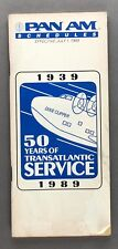 PAN AM TIMETABLE JULY 1989 SEAT MAPS SCHEDULES ROUTE MAP PAA AMERICAN