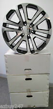 "22"" GMC YUKON SIERRA CHEVROLET ESCALADE FACTORY STYLE MACHINED BLACK WHEELS 4741"
