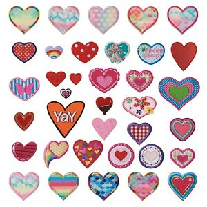 Computerized Embroidery Cloth Costume Iron on Sew on Appliques Heart Patches