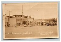 Vintage 1900's RPPC Postcard Street Scene Nebraska (?) Antique Cars Nice Photo