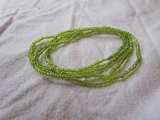Lime Green Tiny Glass Bead Elasticated Bracelet x 4