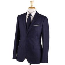 NWT $1800 BOGLIOLI 'Sforza' Midnight Purple Check Soft Wool Suit 38 R (Eu 48)