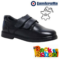 Boys Lambretta Leather School Shoes Formal Casual Touch Strap Trainers Size 10-2