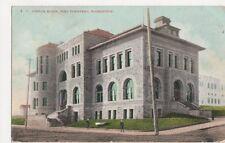 USA, Custom House, Port Townsend Washington 1908 Postcard, B226