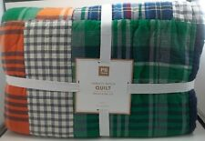 Pottery Barn Teen Varsity Patch Patchwork Multi Quilt Twin #758