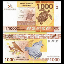 French Pacific Territories 1000 Francs, 2014, P-6 NEW, UNC