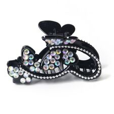 lady women plastic butterfly hair claws clips clamp crystal rhinestone accessory
