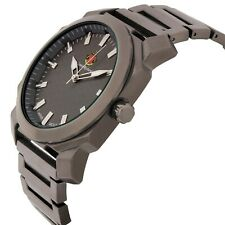 Louis Richard 1495A Men's Buchanan Series Large Gunmetal Textured Dial Watch