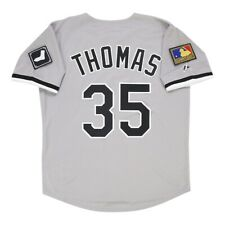 Frank Thomas 1994 Chicago White Sox Gris Road 125th aniversario Jersey para hombre (M-2XL)