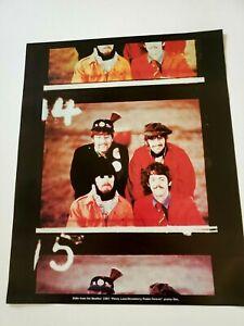 THE BEATLE STILLS FROM 1967 PENNY LANE FILM  Rare Original Print Promo Poster Ad
