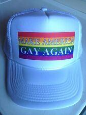 MAKE AMERICA GAY AGAIN HAT anti donald trump PRIDE LGBT rainbow lesbian hat cap