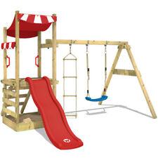 WICKEY FunFlyer Spielturm Sandkasten Rutsche Schaukel Kletterturm Kinder Holz