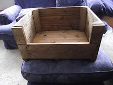 Wooden Dog/Cat Puppy/Kitten Whelping Box/ Bed with wooden flooring