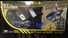 Sky Rover Stalker 3 Channel Ir Gyro Helicopter Blue Vehicle