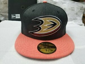 New Era NHL Anaheim Ducks Heather Action 2 Tone 59Fifty Fitted Cap Hat NewEra