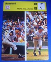MANTLE AND MARIS New York Yankees 1977 Sportscaster (near mint?)