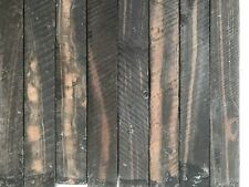 """EBONY STRIPED PEN BLANKS WOOD TURNING SQUARE 12 COUNT FREE SHIPPING 3/4"""" X 6"""""""