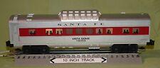 Lionel 16059 Santa Fe Illuminated Streamliner Vista Dome Passenger Car (O/027)