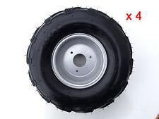 "4x 16X8- 7"" inch 3 Stud Wheel Rim + Tyre 110cc 125cc Quad Dirt Bike ATV Buggy"