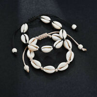Simple Women Summer Beach Bangle Jewelry Fashion Cowrie Sea Shell Bracelet Gifts
