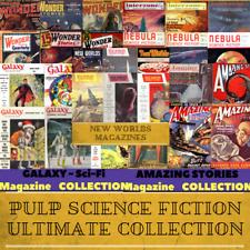 Pulp Science Fiction Ultimate Collection - 2,719 SF Magazines on 8 Data DVD's