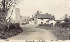 Carbrooke near Watton. Road to Church by H.J.Smith, Watton.