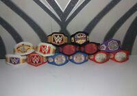 13 WWE Custom Title Belts For Jakks/Mattel Wrestling Figures WWF
