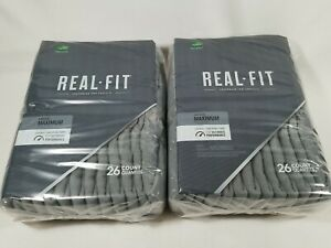 Depend Real Fit Incontinence Underwear, Men Max Absorbency, L/XL, 52Ct FREE SHIP
