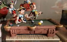 RARE WDCC PINOCCHIO POOL TABLE SCENE Pinocchio, Jiminy, Lampwick and Pool Table