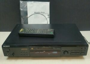 Sony MDS-JE520 Mini Disc Player Minidisc MD & Remote & Instructions