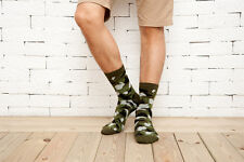 3 Pairs Camo Hunting CS Ankle Socks Soft Cotton Camping Crew Forest 7~12 Size