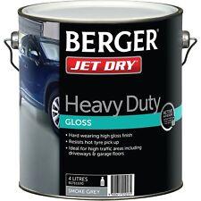 Berger Jet Dry HEAVY DUTY GLOSS PAVING PAINT 4L Interior&Exterior Use SMOKE GREY