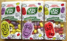 2018 TIC TAC EMOTIONS EDITION PRINTED SWEETS 3 x 49g MANGO GUAVE LEMON BLUEBERRY