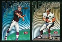 1997 Bowman's Best Cuts San Francisco 49ers Lot Steve Young Jim Druckenmiller RC