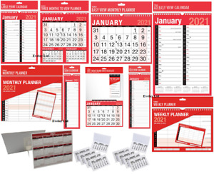 2021 WALL CALENDAR HOME OFFICE, EASY / LARGE / SLIM / MEMO/ 3 MONTH TO VIEW