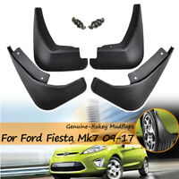 Mud Flaps For Ford Fiesta 09-17 Mk7 Hatchback Sedan Splash Guards Mudguards