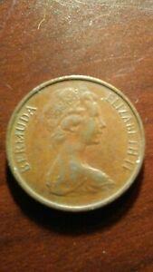 1971 BERMUDA ELIZABETH II ONE CENT!   CC604XXX