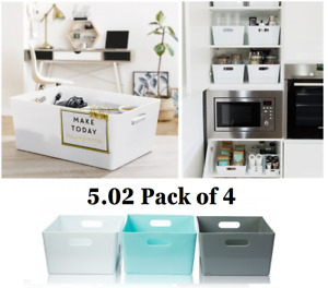 Wham Studio Basket Office 5.02-35cm Pack of 4 Mrs Hinch Bathroom Kitchen Home