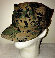 USMC US MARINES COVER GARRISON HAT DIGITAL MARPAT WOODLAND  SMALL GREAT