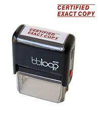 """BBloop® Stamp """"CERTIFIED EXACT COPY"""" Self-Inking, Rectangular. Laser Engraved."""