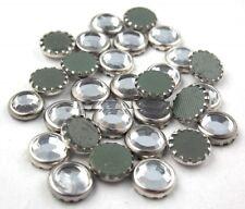 STRASS 7mm 15pz GHIERA ARGENTO silver hotfix Termoadesivi cristallo