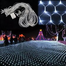 US White 200LED Net Mesh Fairy Lights Twinkle Light Home Wedding Party Decor